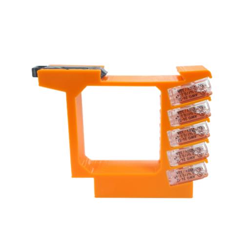 DIN sín tartó / adapter Shelly i3 okos kapcsolómodulhoz