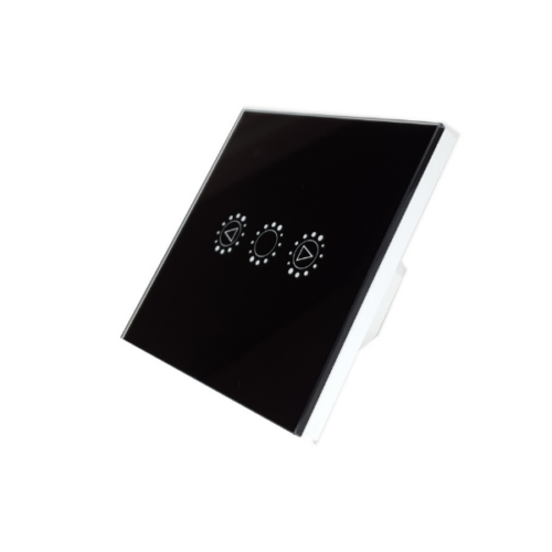 KingArt Dimmer WiFi-s, fényerőszabályzós, érintős okos villanykapcsoló (fekete)
