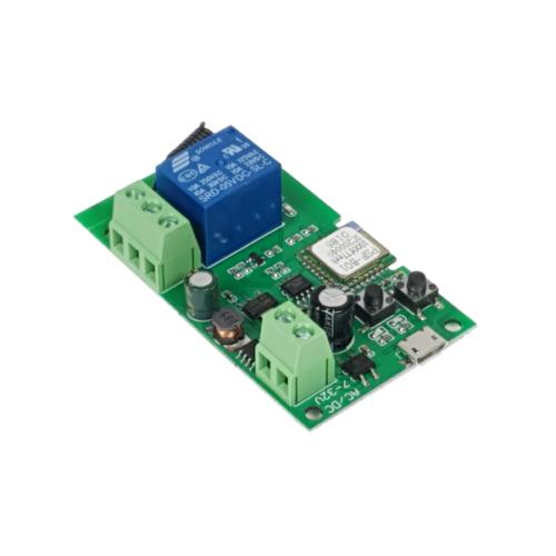 SmartWise 5V-32V egy áramkörös, WiFi + RF, NO/NC okosrelé, kontakt kapcsolással, impulzus üzemmóddal