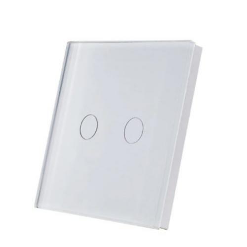 SmartWise T1R2W (R2) kettős/csillár RF (rádiós), alternatív / keresztváltó kapcsoló / fali RF távirányító (fehér)