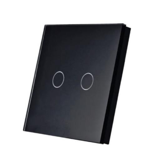 SmartWise T1R2B (R2) kettős/csillár RF (rádiós), alternatív / keresztváltó kapcsoló / fali RF távirányító (fekete)