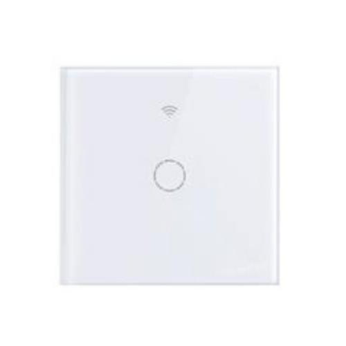 SmartWise T4 EU 1C WiFi+RF, távvezérelhető, érintős okos villanykapcsoló (csak fázisvezetéket igényel) (R2, új előlap)