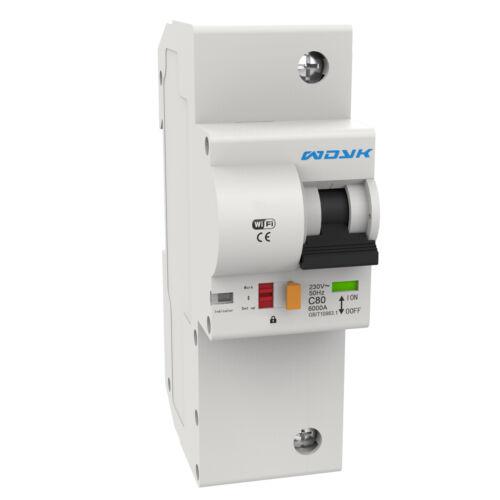 WDYK POW63 1P eWeLink-app kompatibilis, WiFi-s, áramfogyasztás-mérős, nagyteljesítményű, egypólusú kismegszakító (63A)