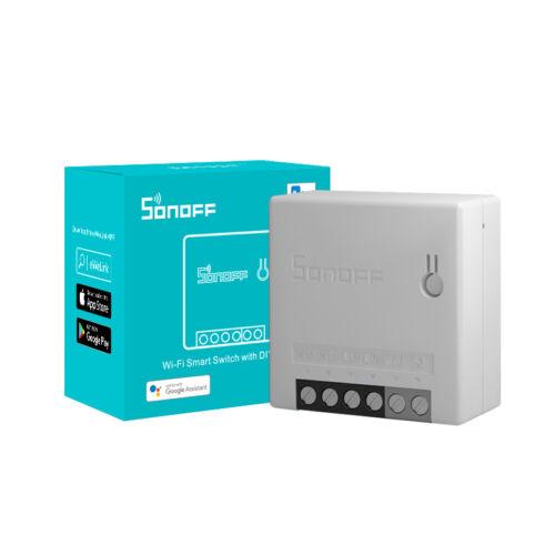 Sonoff Mini R2 WiFi-s, internetről távvezérelhető, kapcsolóaljzatba beépíthető okosrelé, DIY-üzemmóddal (REST API)